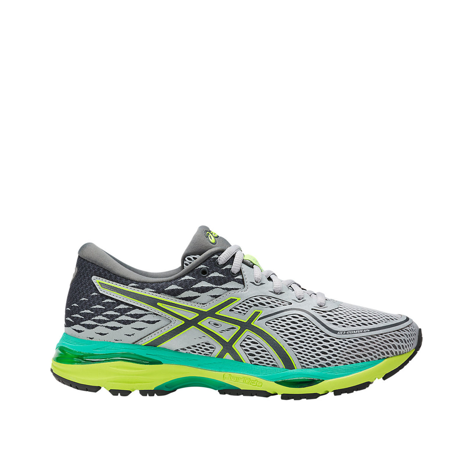 Asics GEL-Cumulus 19 [T7B8N-9697] Women Running shoes Grey Carbon-Safety Yellow